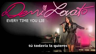 Demi Lovato · Every time you lie · Subtitulos Español/Subtitles Spanish · HQ/HD