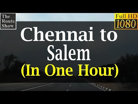 Chennai to Salem at 300kmph (simulated by Timelapse)