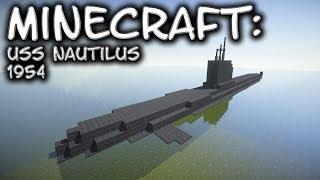 Minecraft: Submarine Tutorial (USS Nautilus 1954)