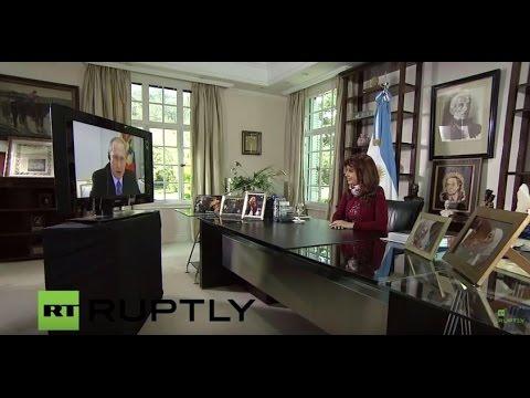 LIVE: Conference call between Vladimir Putin and Cristina Kirchner - English Audio