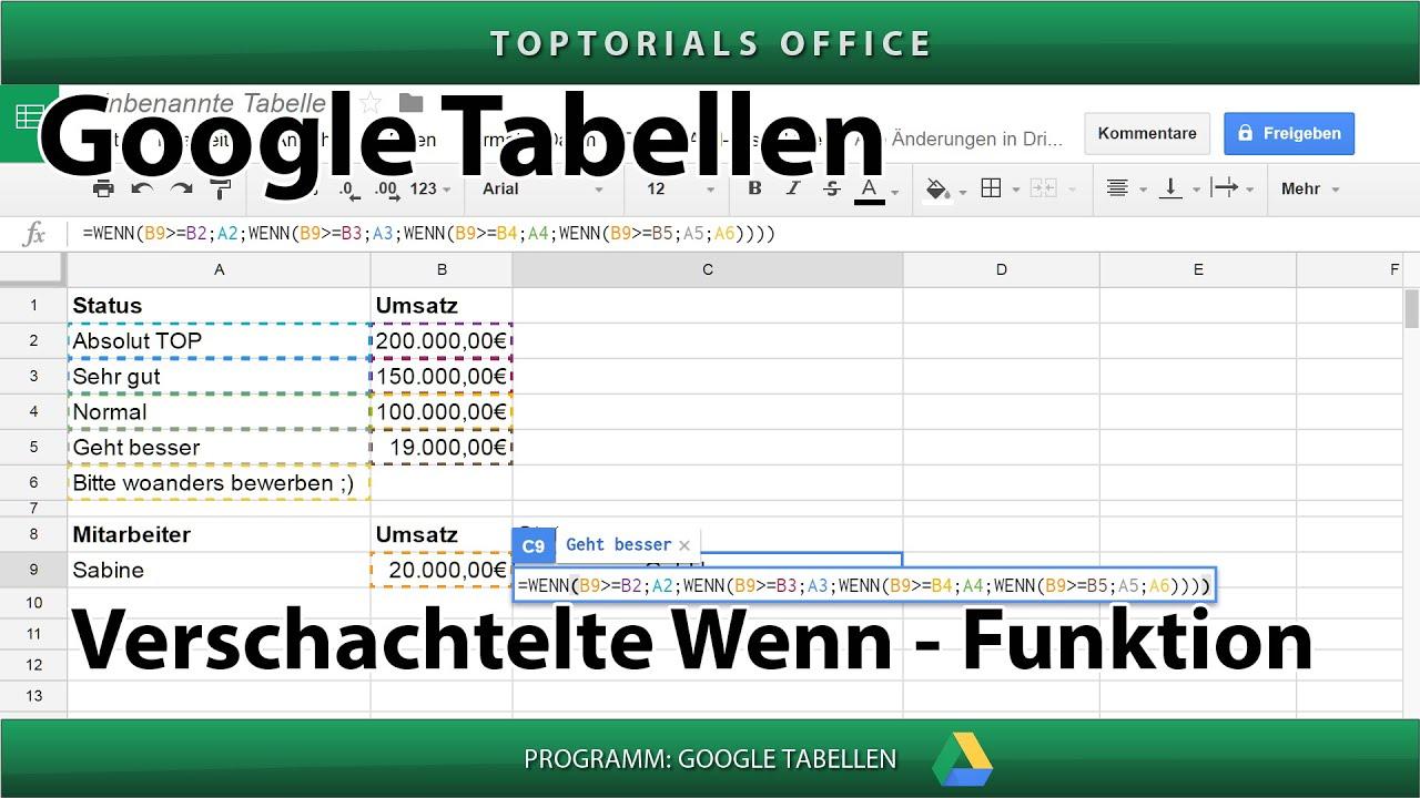 Geschachtelte Wenn Funktion Excel