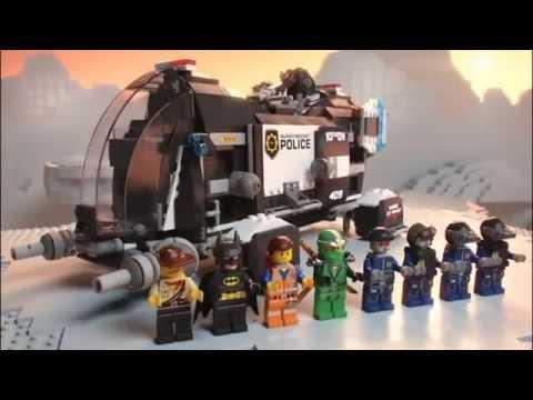 The Lego Movie | 70815 | SUPER SECRET POLICE DROPSHIP | Lego 3D Review