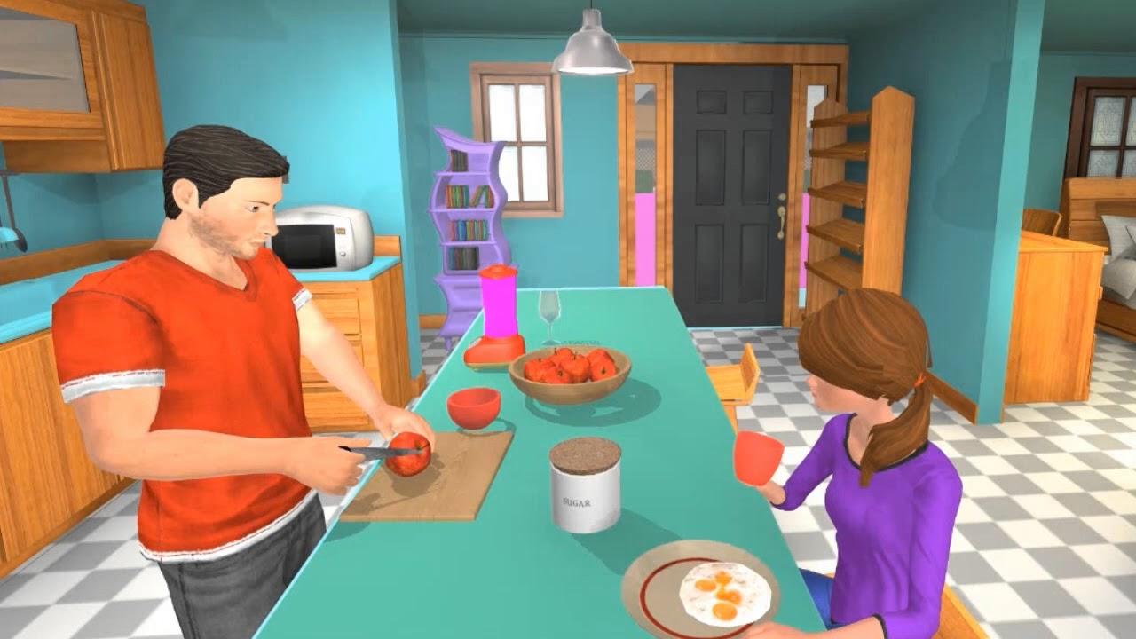Virtual Father Single Dad Family Simulator - YouTube