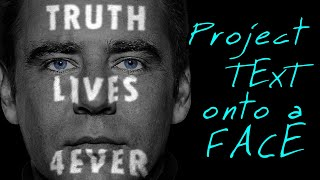 Photoshop: How to Create the Powerful Look of Text Projected onto a Face!