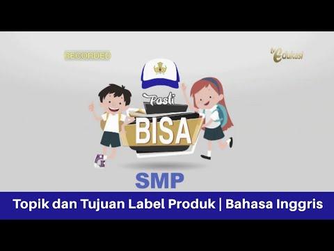 Topik Dan Tujuan Label Produk Smp Bahasa Inggris Pasti Bisa Youtube