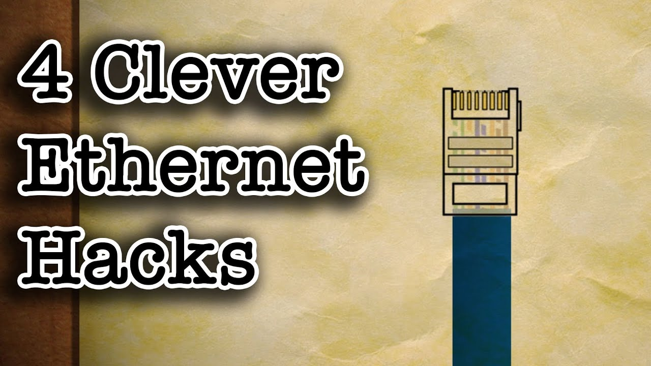 4 clever ethernet cable hacks youtube gigabit wiring diagram lan wiring diagram for digital cameras
