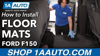 How to Install Floor Mats 2010-14 Ford F150