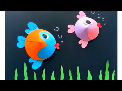 paper-fish-wall-painting-|-wall-hanging|-wall-decor-ideas-for-kids