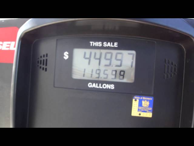 Did you know how much it costs to fill a big rig! And this wasn't quite full yet.