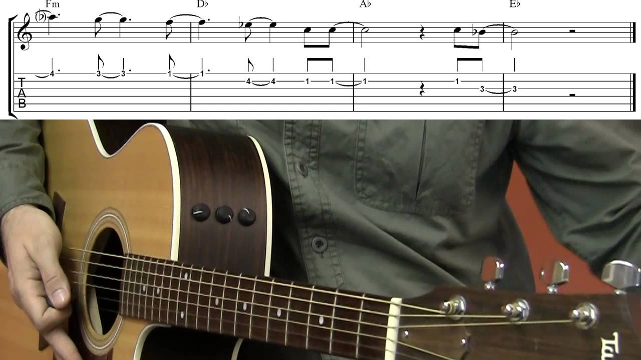 Learn All of Me by John Legend on Guitar Free Sheet Music