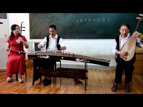 Traditional Chinese music, instruments trio performance (Zheng,Erhu,PiPa) Guilin China c.MOV