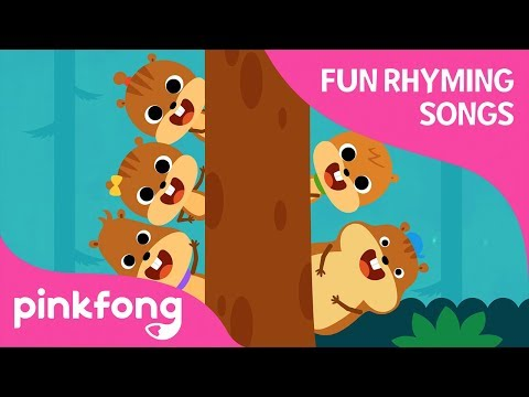 Five Little Squirrels | Fun Rhyming Songs | Count 1 to 5 | Pinkfong Songs for Children