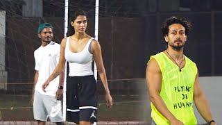 Tiger Shroff, Disha Patni, Arjun Kapoor \u0026 Aparshakti Playing Football Match