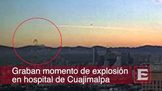 Graban explosión de Hospital Materno Infantil de Cuajimalpa