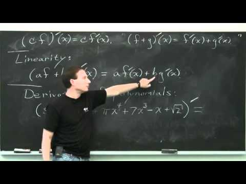 The Power Rule and Linearity - Differential Calculus