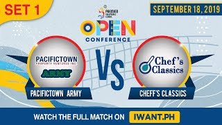 SET 1 | Army vs. Chef's Classics | September 18, 2019 (Watch the full game on iWant.ph)