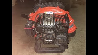 How to fix a problem with two cycle engine not running at high speed / no power