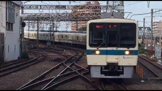 藤沢駅に入線する小田急8000系