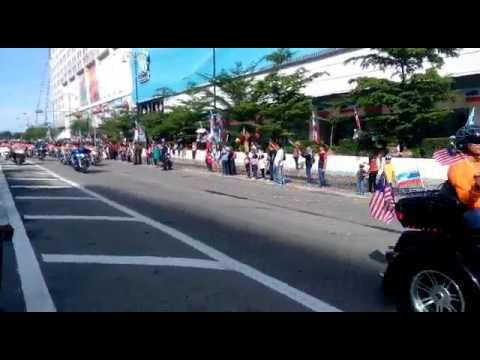 Perbarisan hari kemerdekaan dikota Kinabalu