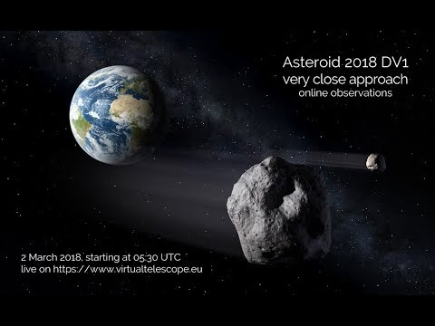 Asteroid 2018 DV1 very close encounter: online observation