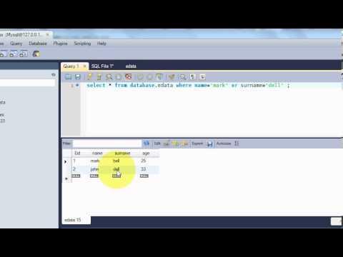 Beginners MYSQL Database Tutorial 6# MySQL AND & OR Operators Statement  Query