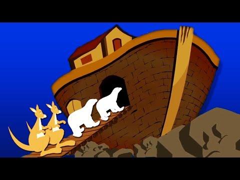 Τα ζώα πήγαν δυο μαζί - The Animals Went In Two by Two in Greek   Paidika Tragoudia Greek