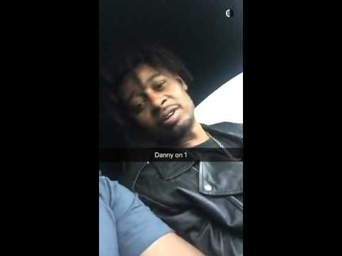 Danny Brown @ Schoolboy Qs snapchat story pt.1