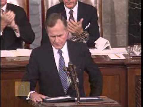 Bush Before a Joint Session of Congress (September 11, 1990) - Famous New World Order Speech