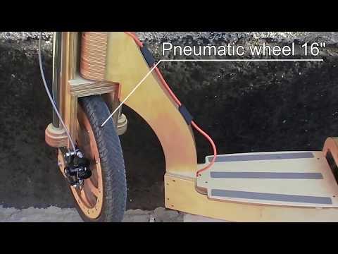 Электросамокат из фанеры (wooden electric scooter)