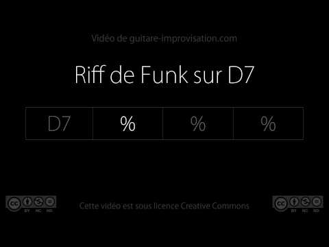 Funk on D7 : Backing track