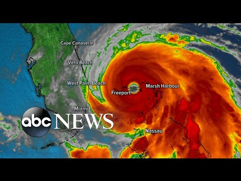 Hurricane Dorian slams the Bahamas as Cat 5 | ABC News