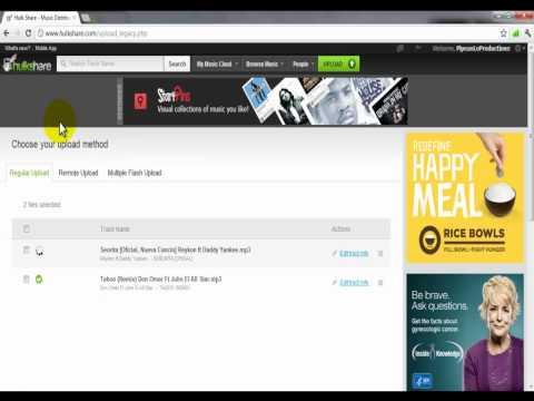Hulkshare 2012 ® Subir & descargar musica gratis facil