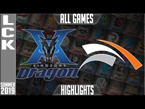 KZ Vs HLE Highlights ALL GAMES | LCK Summer 2019 Week 6 Day 1 | King-Zone DragonX Vs Hanwha Life