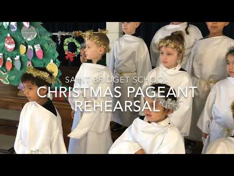 Saint Bridget School pre-k and kindergarten Christmas Pageant rehearsal