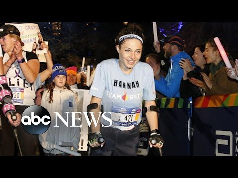 Donnie McClurkin - Watch! Paralyzed woman completes NYC Marathon entirely on crutches