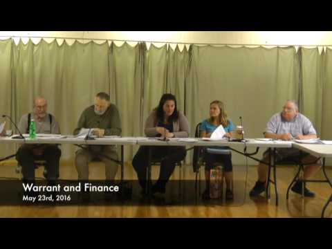 Warrant and Finance - 05-23-2016