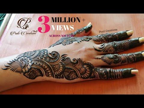Top Elegant And Stylish Hand Mehndi Design || Indo Arabic Simple Henna Design || Prati Creations
