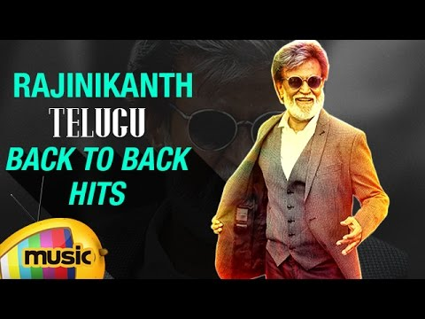 Rajinikanth Telugu Hits   Back to Back Video Songs   Rajinikanth Top 5 Telugu Songs