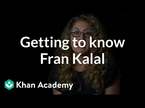 Getting to know Fran Kalal | Sets & Staging | Computer animation | Khan Academy