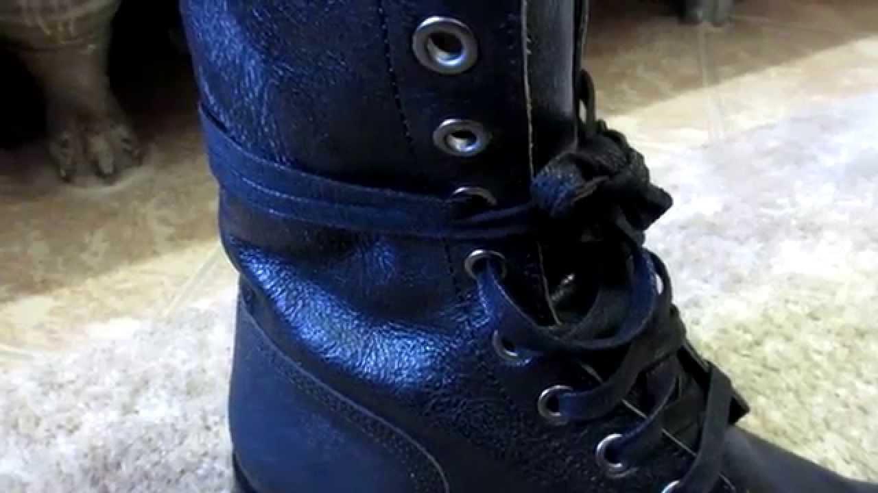 cd45d0af7a7 Diesel Black Leather D-Komtop Combat Boots plus Cashmere Sweater