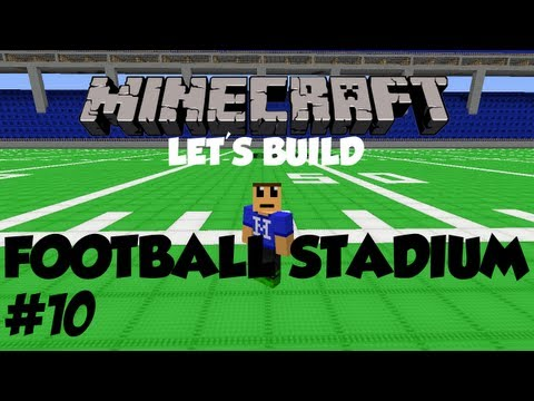 Minecraft Lets Build HD: Football Stadium - Part 10 - World Download and Hot Tub