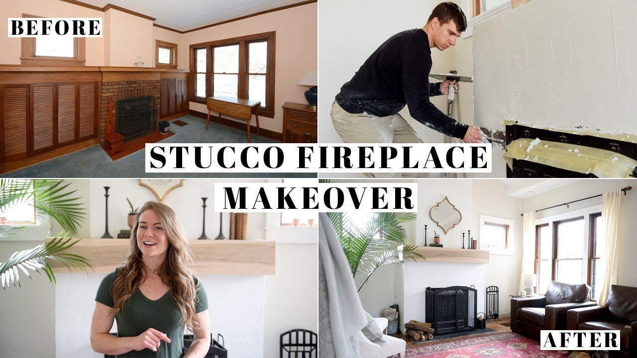 Stucco Over Brick Fireplace Makeover Do S Don Ts Steps To