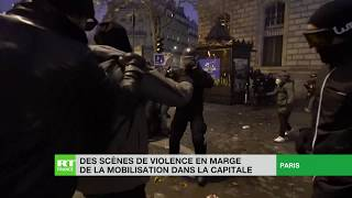 Scènes de violences à Paris