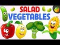 Salad Vegetable 🌽🍄🥦 - Learn Spelling in English - Kids Preschool Learning