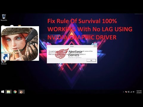 Fix rules of survival OpenGL 100% work for Nvidia