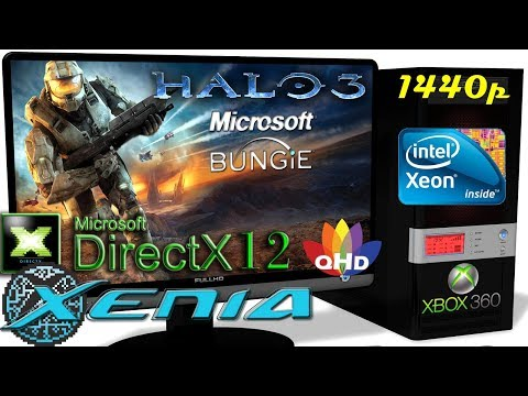 XENIA DX12 [Xbox 360] - HALO 3 [1440p Gameplay] Resolution Scale