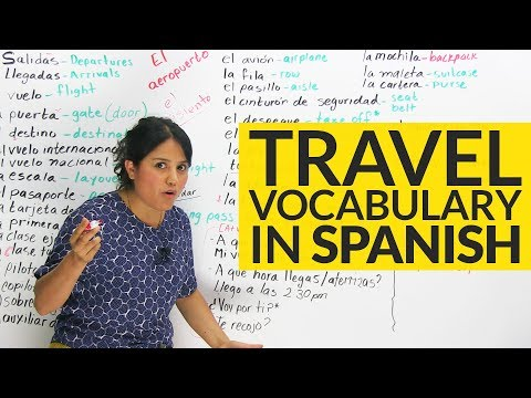The TOP Travel vocabulary in Spanish! ✈
