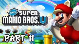 New Super Mario Bros. Wii U Walkthrough - Part 11 Dragoneel Frustration Let's Play WiiU Gameplay