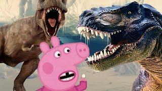 Мультик про динозавров. Динозавр похитил детей. Логово динозавров. Свинка Пеппа и страшный колдун.