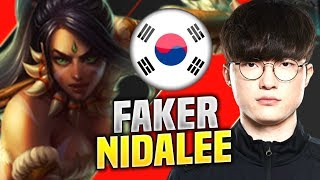 FAKER IS A BEAST WITH NIDALEE JUNGLE! - SKT T1 Faker Plays Nidalee Jungle vs Trundle! | S20 KR SoloQ
